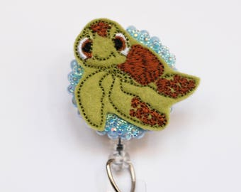 Finding Nemo's Squirt Feltie ID Badge Reel - Retractable ID Badge Holder - Zipperedheart