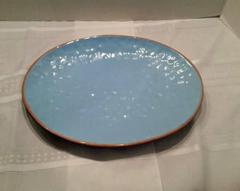 Aqua Stoneware Serving Platter, Made in Italy