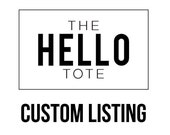 Custom Listing for Jayha Leigh | Custom Name | Canvas and Leather Tote Bag