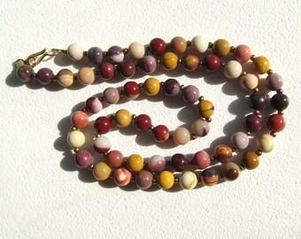 Mookaite Jasper 20-Inch Necklace