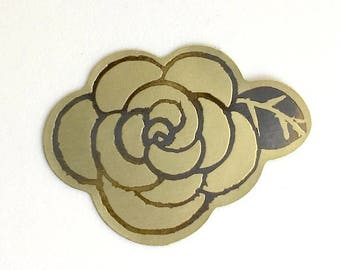 rose stickers - gold