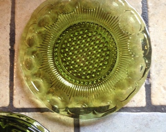 Clear Green Glass Plates