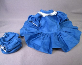 Vintage Doll Clothes - Tiny Terri Lee Doll Navy Blue School Dress - 1950's - Tagged