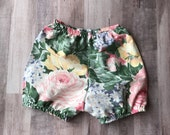 Baby Bloomer Shorts in Vintage Fabric  9-12 months