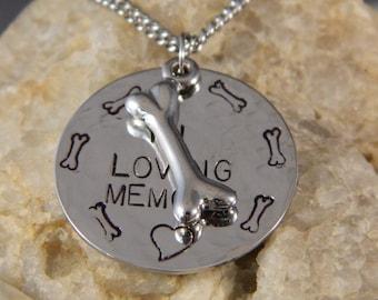 In Loving Memory of Pet Handstamped Necklace