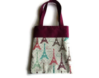 Eiffel Tower Gift Bag - Goodie Bag - Mini Tote