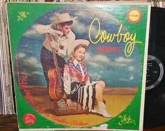 Cliff deegan Cowboy Favorites Vintage Vinyl Record
