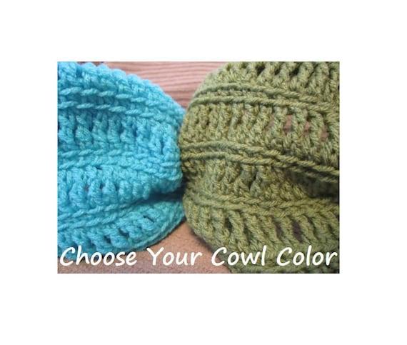 Cowl Neck Warmer, Open Crochet , Made to Order, Custom