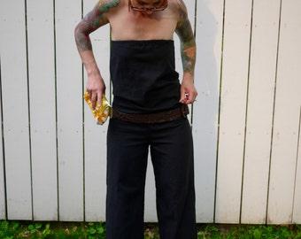 Wide Leg Jumpsuit| Black Jumpsuit| Strapless Jumpsuit| Cotton Jumpsuit|Plus Size Jumpsuit|Sleeveless Jumpsuit|Wide Leg Pant|Women's Jumpsuit