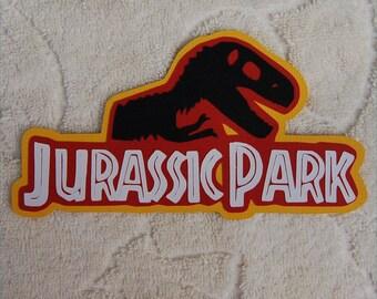 UNIVERSAL STUDIOS Jurassic Park Scrapbook Die Cut Title - SSFF