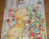ON SALE Vintage Springbok Beary Christmas Teddy Bear Merry Children's Jigsaw Puzzle