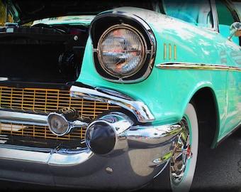 1957 Chevrolet Belair - Classic Car - Garage Art - Pop Art - Fine Art Photograph