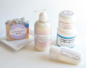 Honeysuckle Lotion - Handmade Aromatherapy- Shea Butter and phyto-nutrient rich oils - 8 oz pump