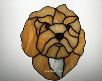 Cavapoo Suncatcher in Stained Glass Cavadoodle Cavoodle