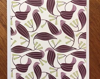 Leaf Pattern Note Card
