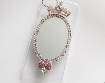 Pink mirror cellphone cover, choose from iphone 5, 6, 7, and plus