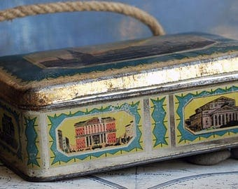 vintage metal box from an estate sale, home decor, coolvintage, collectibles, ornate, gorgeous, UA