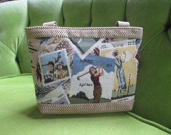 Golf Tapestry Tote