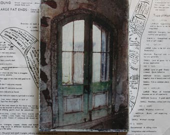 Arched, Door, Eastern State Penitentiary, Abandoned America, 4 x 6, Mixed Media, Miniature, Art