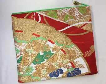 iPad Case Upcycled From Vintage Obi - Folding Fan