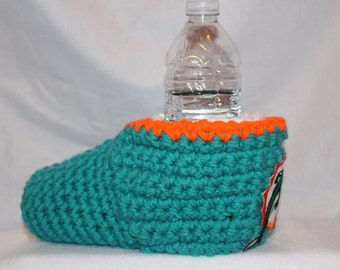 Ready to ship - Miami Dolphins Drink Mitt  - The mitten with the drink holder