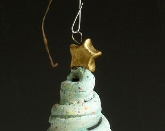 HANDMADE CLAY ORNAMENT, Clay Tree Ornament, Christmas Tree Ornament, Tree Ornament, Pottery Tree, Gree Tree Ornament, Christmas Tree