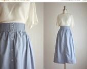 25% SALE high waisted chambray midi skirt