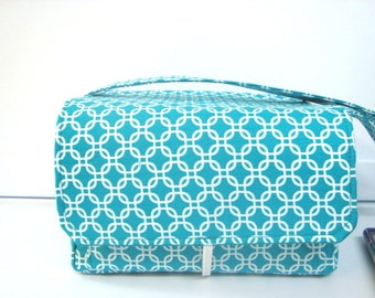 "6"" Super Large Fabric Coupon Organizer  - Turquoise Links"