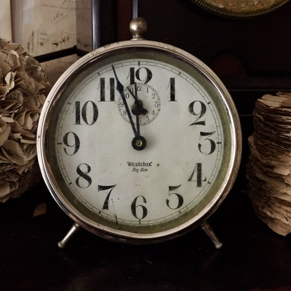 Antique Clock, working, Alarm, chrome, Steel, Tick Tick