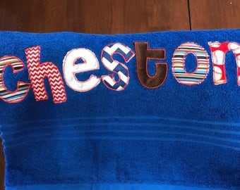 Custom Embroidery Appliqued Personalized Bath Beach Towels Great Gifts for Pool Party