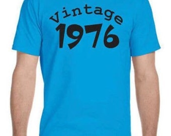 40th Birthday Gift, Vintage 1976 Shirt, Avaiable With Any Year For Any Age