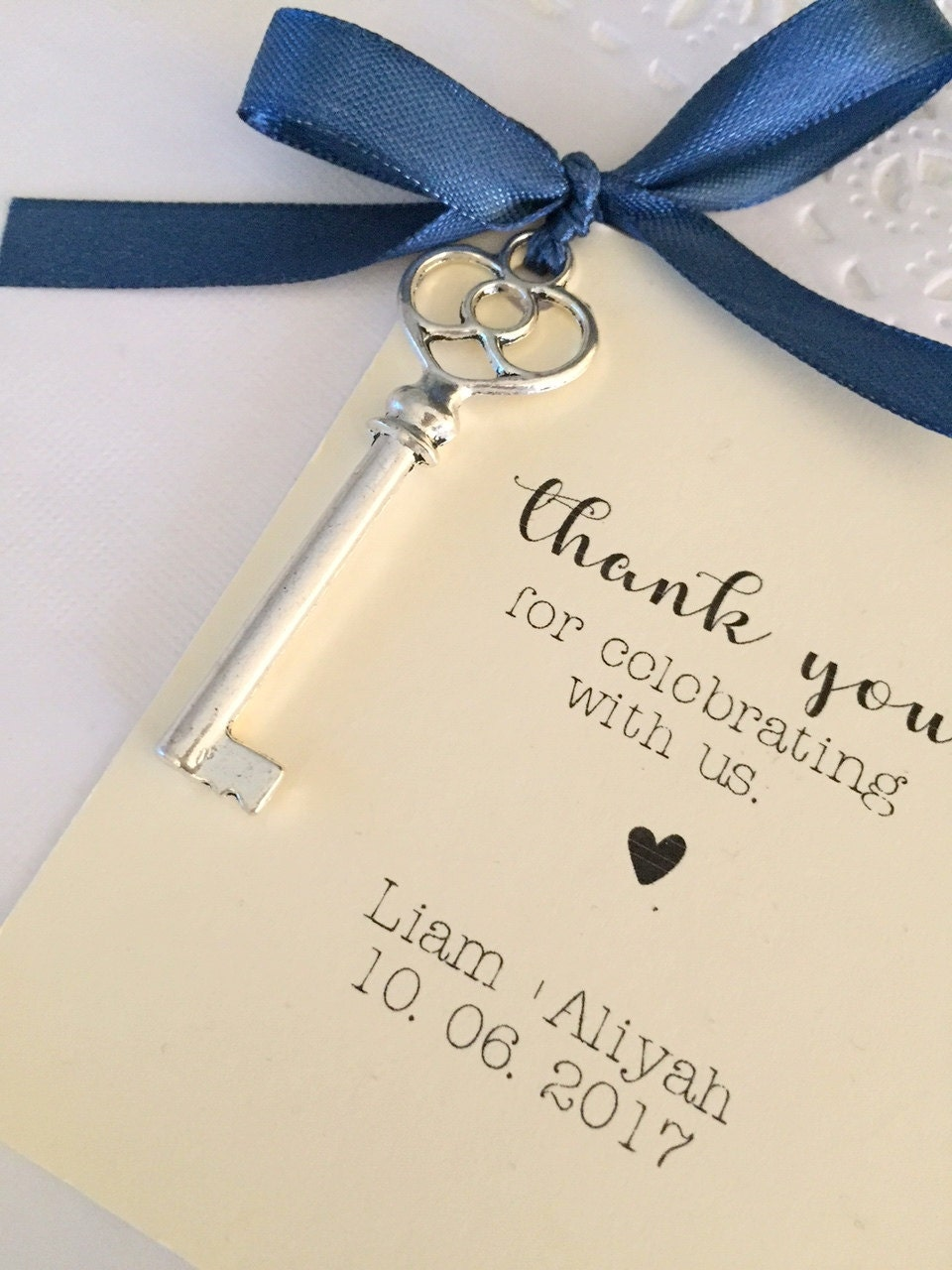 Skeleton key wedding favor, comes with Card and Ribbon. SET of TEN ...