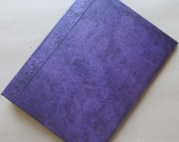 Handmade Refillable Journal Distressed Violet 8x6 Original traveller notebook fauxdori