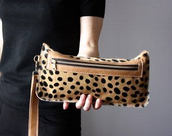 Leopard clutch, leopard cat clutch, leopard print clutch, leopard leather clutch, leather clutch, leopard purse, leather purse , cat clutch