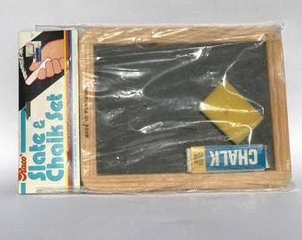 Vintage Raco Slate and Chalk Set by Rose Art Industries 1982 NBO