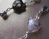 ON SALE Cat Collar Charms x 2 Black and Pink