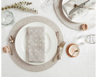 Charter plates oatmeal linen. Set of 2. Perfect for dinners, breakfasts, or afternoon tea parties. Free shipping for US ordes.