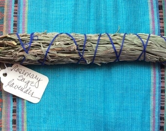 Moon & Stars Smudge Bundles - All Natural and Made with Love- Rosemary, Sage, Lavender