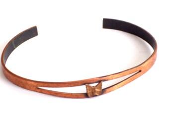 Copper Butterfly Bracelet, Vintage Copper Cuff Bracelet, Dainty Copper Cuff, Vintage Butterfly Bracelet, Butterfly Jewelry, Girls Bracelet