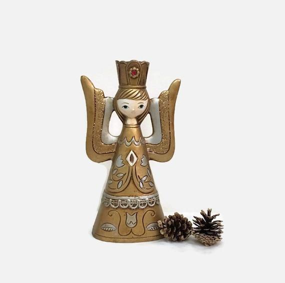 Vintage Angel Candlestick Holder - Tall - Gold - Japan - Christmas Decor