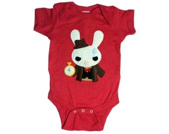 The White Rabbit - Alice's Adventure in Wonderland - Infant Bodysuit - Baby Clothing - Gift