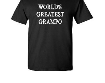 World's Greatest Grampo - Silkscreen T-Shirt Silk Screen Handmade Graphic Tees Tshirt Men S-M-L-XL Shirt