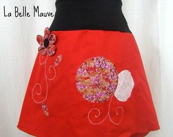Skirt Chihiro cherry blossoms and flower embossed