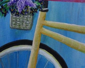 fine art originl painting My Bicycle