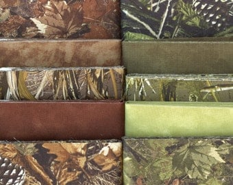 Woodland Camo Jelly Roll 40 - 2 1/2 inch strips - new combination