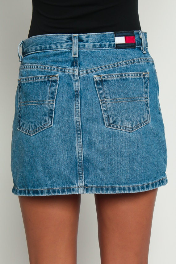 90s Denim Skirt - Sales Up to -50% Tommy Hilfiger