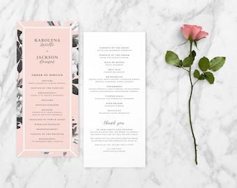 The Calliope Romantic Floral Wedding Ceremony Program