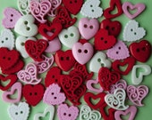 LOVE POTION - Hearts Valentine's Day Wedding Christmas Dress It Up Craft Buttons