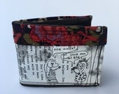 Bifold wallet, unique wallet, funky wallet, humor wallet, recycled wallet