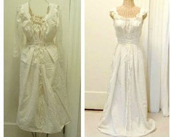 Nordic Lace Up Dress Simple Wedding Medieval Viking Scandinavian Hygge Corset Affordable LARP Rennaisance Short, Midi or Maxi
